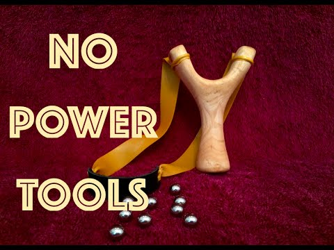 How to Make a Slingshot Without Power Tools