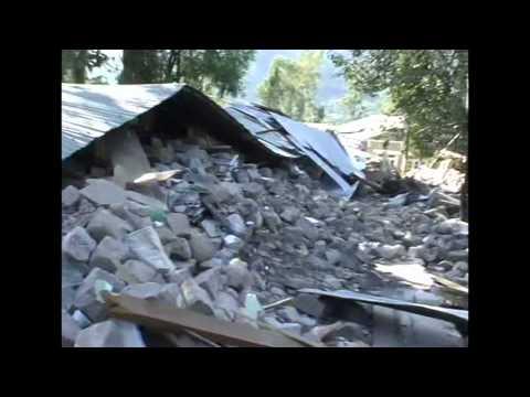 Pakistan Azad Kashmir 2005 Earthquake Devastation and Relief Camp