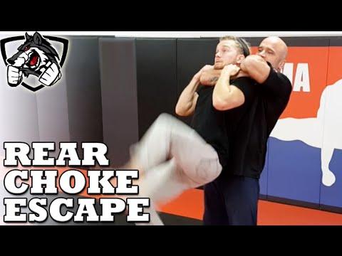 How to Escape a Standing Rear Choke w/ Bas Rutten