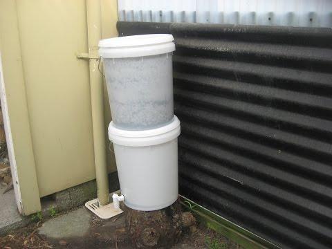 Survivalist Water Filter - Make A Bucket Sand & Charcoal Bio filter