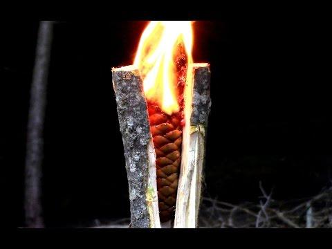 Survival- Emergency Tree Resin Torch