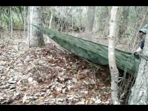 A Lean-to Shelter With a Tarp
