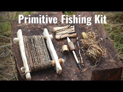 PRIMITIVE FISHING KIT. Making and Testing. Nettle cordage, Thorn Hooks, Bushcraft Survival Scotland