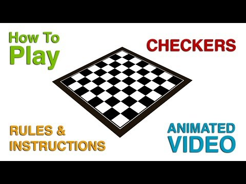 How To Play Checkers | Checkers Rules and Instructions | Learn Rules of Checkers