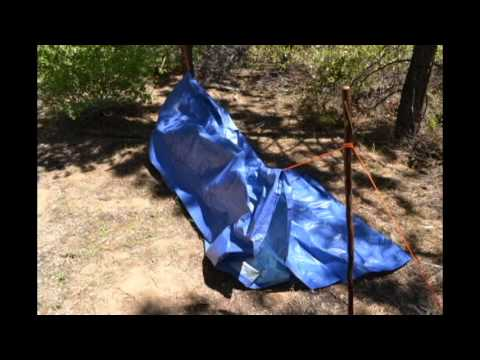 How to make a quick, efficient A-Frame emergency tarp shelter