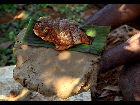 Baked Fish Packed in Clay   Ancient Cooking
