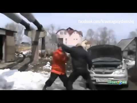 Krav Maga In The Wild: Russian Police Officer vs. Shovel Attack