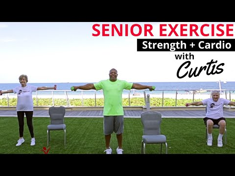 Cardio & Weight Training Exercises for Seniors by Curtis Adams