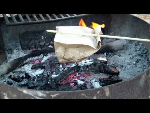 Cooking Bacon And Eggs In A Paper Bag!