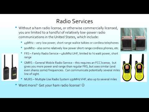 Introduction to Ham Radio and Technician Training Class (Old Version)
