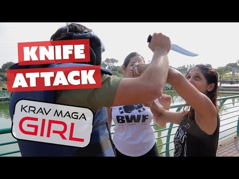 Krav Maga Girl   How to Defend Yourself from a Knife Attack