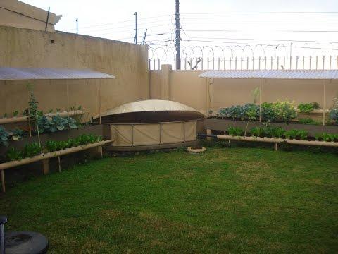 How to build a home made DIY Aquaponics garden.