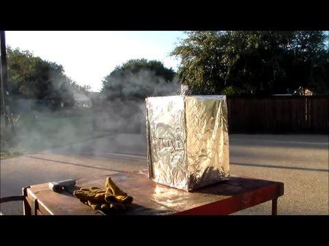 Make a Cardboard Box Into An Outdoor Oven