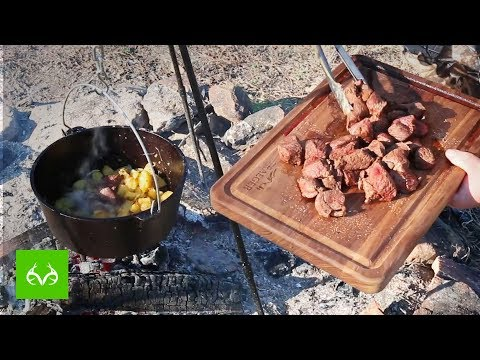 Venison Recipe | BEST Hunting Camp Campfire Meal