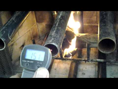 Fireplace heat exchanger - Homemade