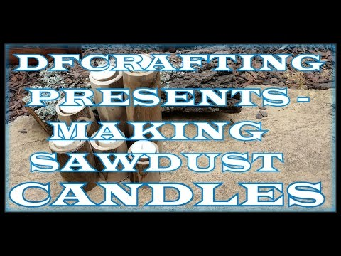 Making Sawdust Candles