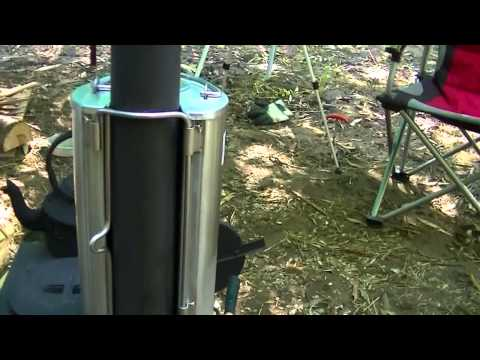 Frontier stove plus water heater review from Camping Solution's