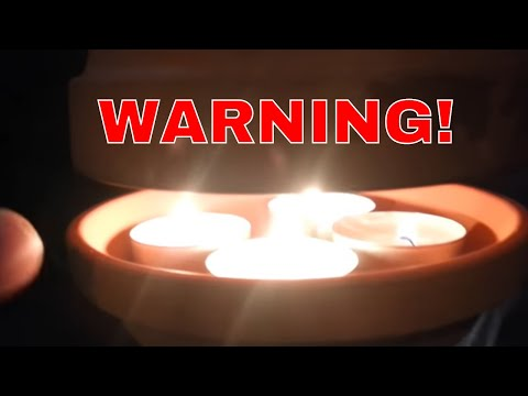 WARNING OF FLOWER POT CANDLE HEATERS!