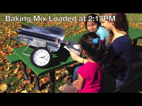 Solar Cooker Timelapse: Muffins in 20 Minutes in a Sun Oven