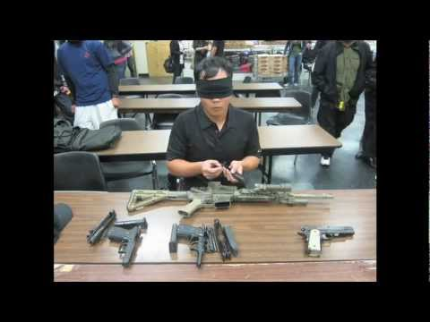 PHOTO TIME-LAPSE OF BLINDFOLDED GUN ASSEMBLY
