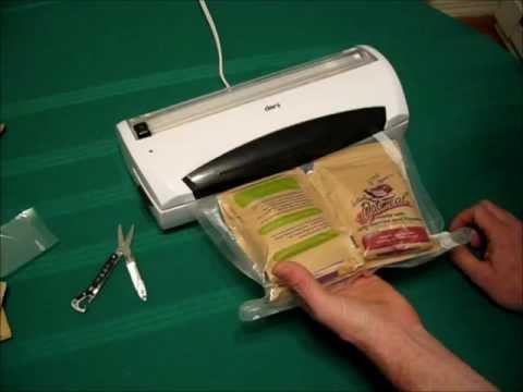 DIY Survival Food Storage - Vacuum Seal Your Own Meal Packs