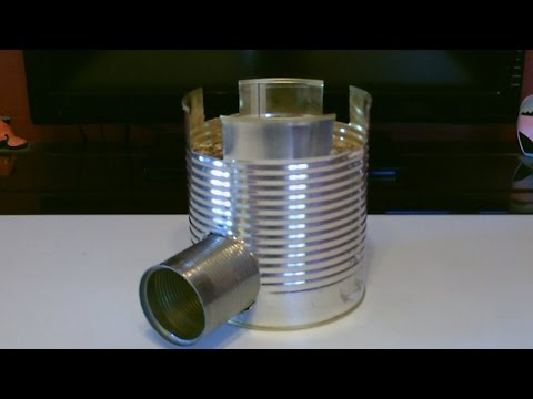 """Homemade STEEL CAN Rocket Stove! - The """"BIG CAN"""" Rocket Stove! - Awesome Stove! - Easy DIY"""