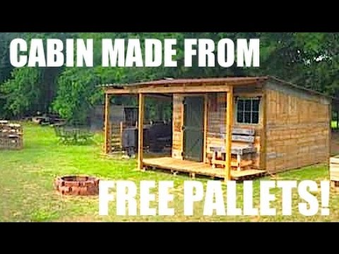 This Tiny House/Cabin was made from FREE Pallets!