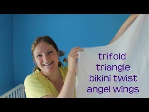 4 Simple Flat Cloth Diaper Folds