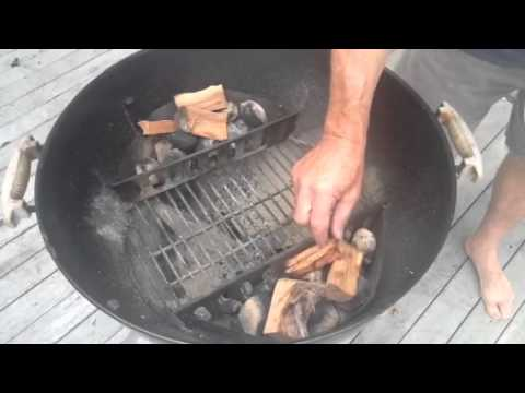 How to hot smoke salmon with a weber kettle bbq