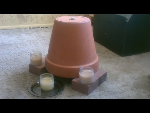 Candle Powered Air Heater - DIY Radiant Space Heater - flower pot heater - Easy DIY