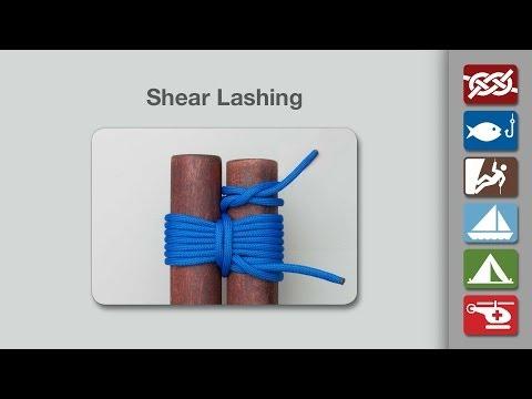 Shear Lashing Knot | How to Tie a Shear Lashing