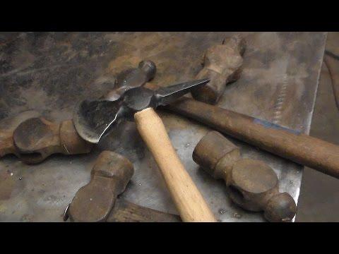 Spike Hatchet Forged from a Ball Peen Hammer