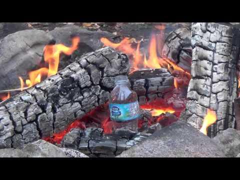 Survival Hack! Boil Water in a Plastic Bottle in a Campfire
