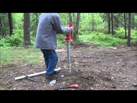 How To Install A Hand Pump Water Well. The Tent Well. Finally.