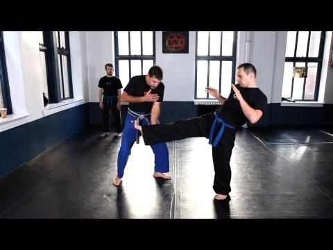 How to Do Inside Defense against Kick   Krav Maga Defense