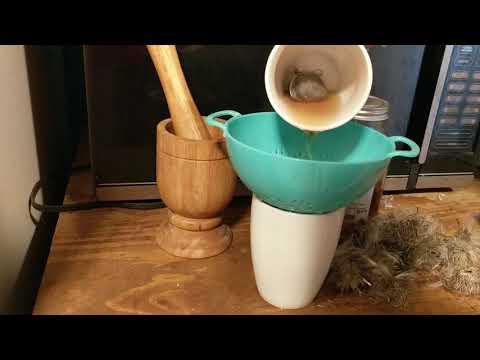 Making Milk Thistle Tea