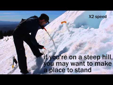 20 min Emergency Snow Shelter - Demonstration