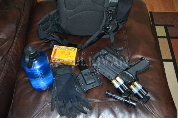 a get home bag and some of its items