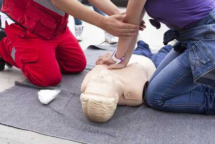 first aid chest compressions
