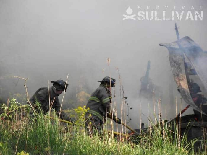 firefighters putting out a wildfire