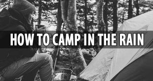 camp in the rain