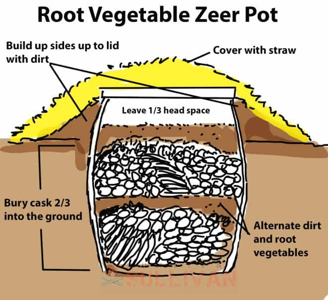 Root Vegetable Zeer Pot