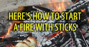 how to start a fire with sticks logo