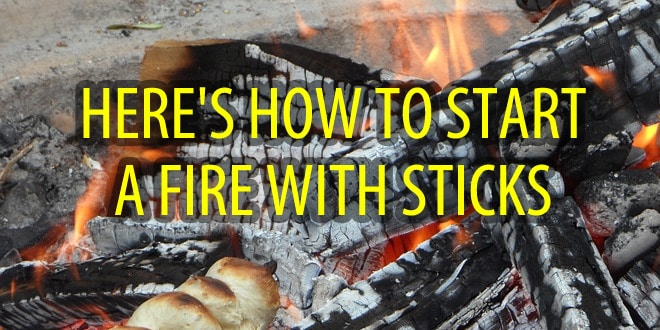 start a fire with sticks logo