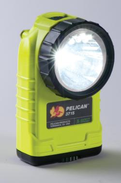 Pelican 3715 Yellow Right Angle Fire Flashlight