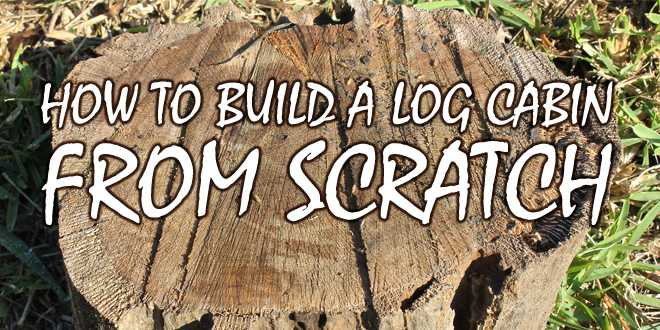 How To Build A Log Cabin Logo