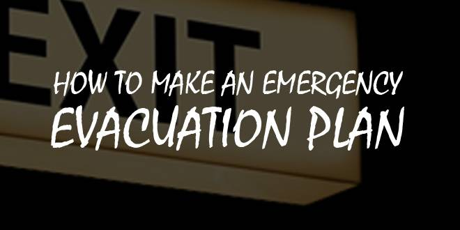 how to create an evacuation plan