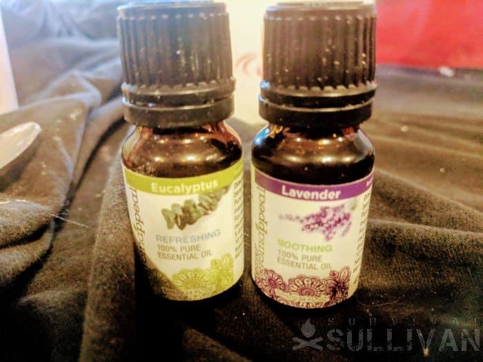 eucalyptus and lavender essential oils