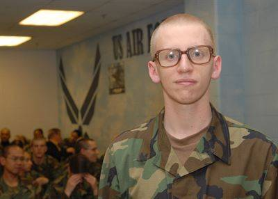 military man with glasses