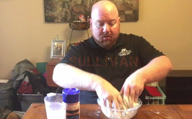 step 2 - mixing the flour
